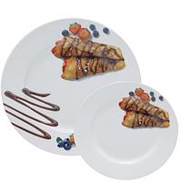 Набор тарелок для блинов Шоколад (27см, 20см) SNT 30834-03