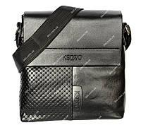 Мужская сумка черного цвета с интересным дизайном (2025-1ч)