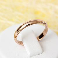 R1-2296 - Обручальное кольцо розовая позолота, 17.5, 18.5 р.