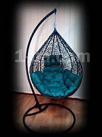 Распродажа,Садовое подвесное кресло-качель Nest .Коричневое со стойкой.