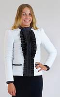 Куртка демисезонная женская K&ML Рюша (40-50)