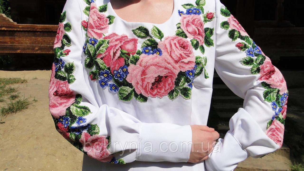 Заготовка жіночої сорочки для вишивки нитками бісером БС-10  продажа ... 0e4c87a7ba211