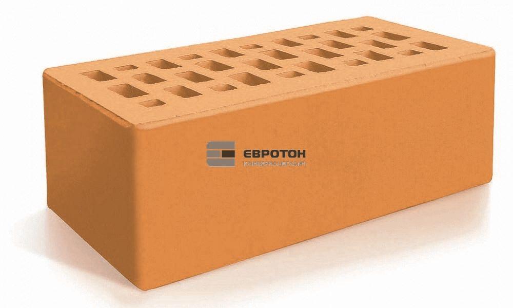 Кирпич облицовочный ЕВРОТОН утолщенный полуторный персиковый
