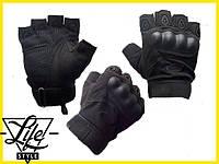Перчатки тактические с открытыми пальцами   Oakley черний