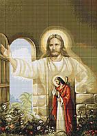 """Набор для вышивки крестиком (религия) """"Иисус стучащийся в дверь"""""""