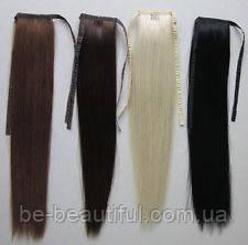 Натуральные шиньоны на лентах Длина до 60 см,вес 100 грамм