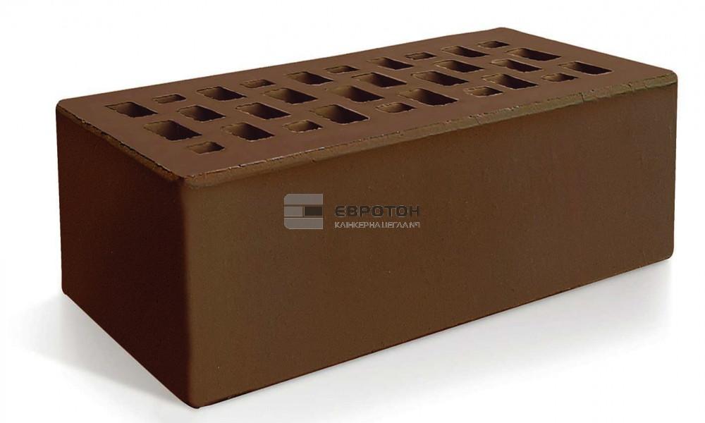 Кирпич облицовочный ЕВРОТОН утолщенный полуторный коричневый