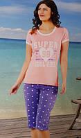Женская трикотажная пижама №31583 (капри)