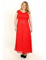 Платье большого размера с V-образным вырезом