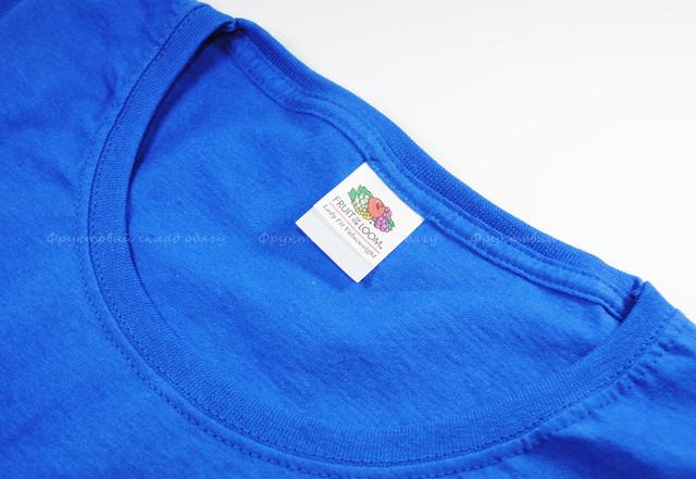 Ярко-синияя женская классическая футболка