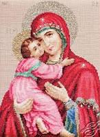 """Набор для вышивки крестиком (религия) """"Владимирская  Божья матерь"""""""