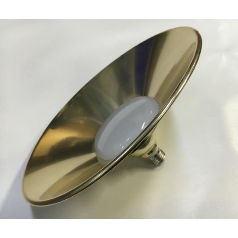 Светодиодная лампа Lemanso 10W + отражатель ант. золото