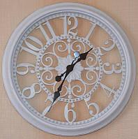 Большие настенные часы, белые (51х51х5 см.)