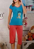Женская трикотажная пижама №31224 (капри)