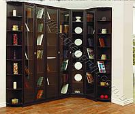 Шкаф книжный угловой 0026