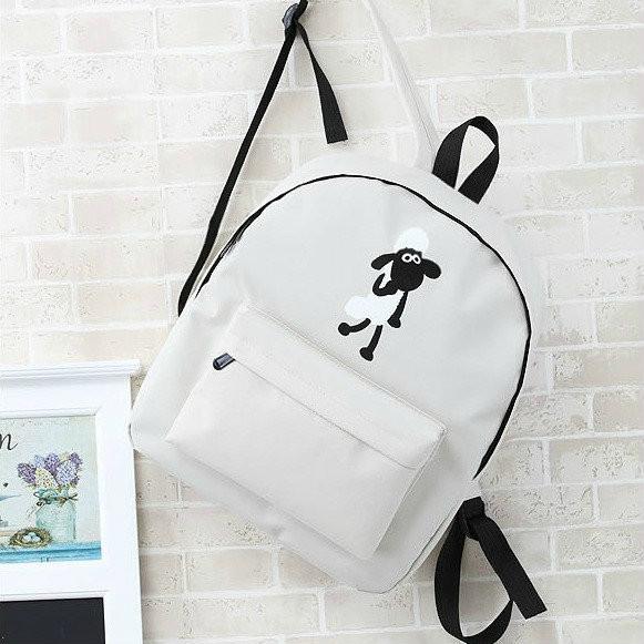 школьный рюкзак с рисунком овечки