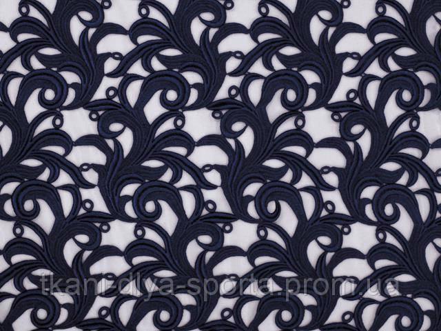 Кружевной мотив темно-синий CHRISANNE (Англия) (Tamara lace midnight sky)