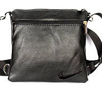 Мужская сумка в стиле Nike черная компактная (М-02)