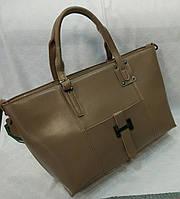 Сумка кожаная брендовая цвет коричневый