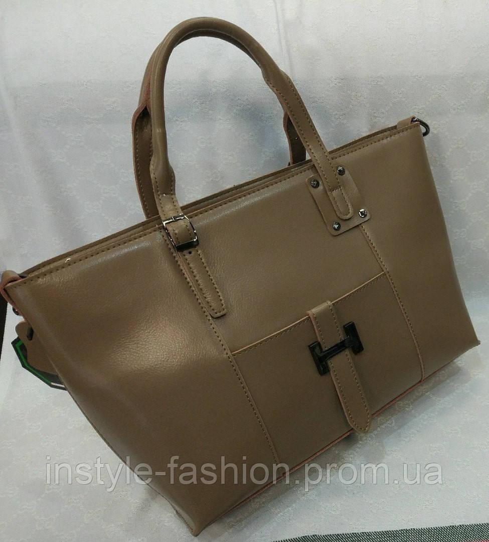 Сумка кожаная брендовая цвет коричневый - Сумки брендовые, кошельки, очки,  женская одежда InStyle fee2d055789