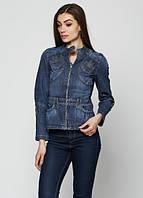 689213 Куртка джинсовая темно-синяя