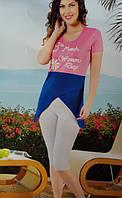 Женская трикотажная пижама №31748 (капри)