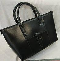 Сумка кожаная брендовая цвет черный