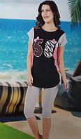 Женская трикотажная пижама №31739 (капри)