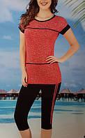 Женская трикотажная пижама №31682 (капри)
