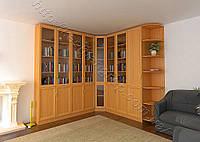 Шкаф угловой книжный 0028
