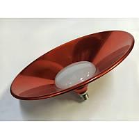 Светодиодная лампа Lemanso 10W + отражатель красный