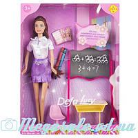 Кукла Defa Lucy Учитель: доска + парта + стул + карандаши 2шт