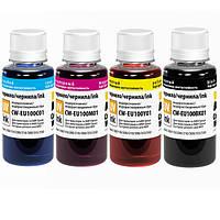 Комплект чернил ColorWay Epson L100/L200, 4x100 мл (CW-EU100SET01)