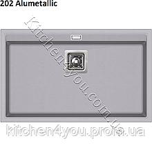 Прямокутна гранітна мийка 740х455 мм. AquaSanita Delicia SQD-101 AW монтаж під або в стільницю
