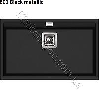 Прямоугольная гранитная мойка 740х455 мм. AquaSanita Delicia SQD-101 AW монтаж под или в столешницу