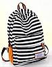 Стильный рюкзак для города в полоску, фото 7