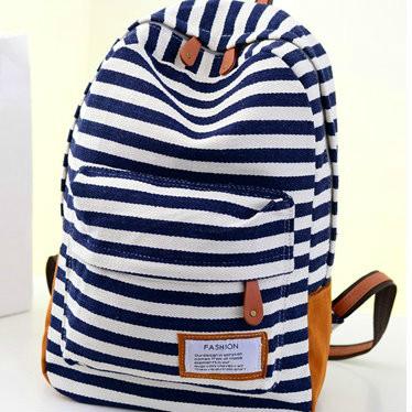 полосатый городской рюкзак