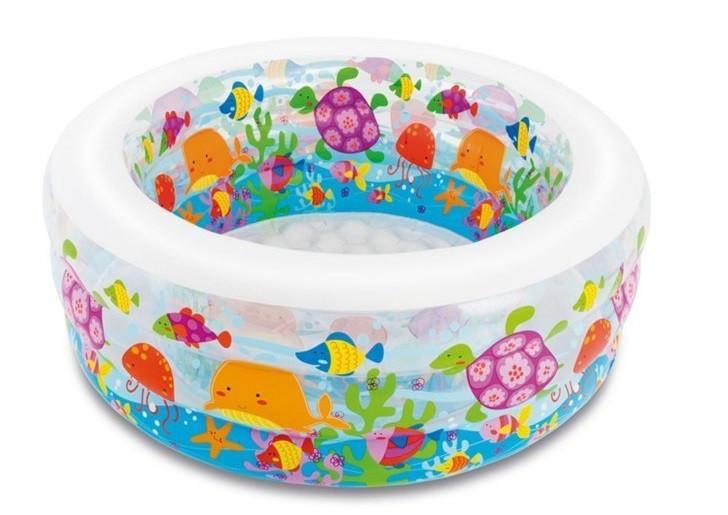 """Детский надувной круглый бассейн """"Аквариум"""" 58480 NP (152*56 см) с рыбками"""