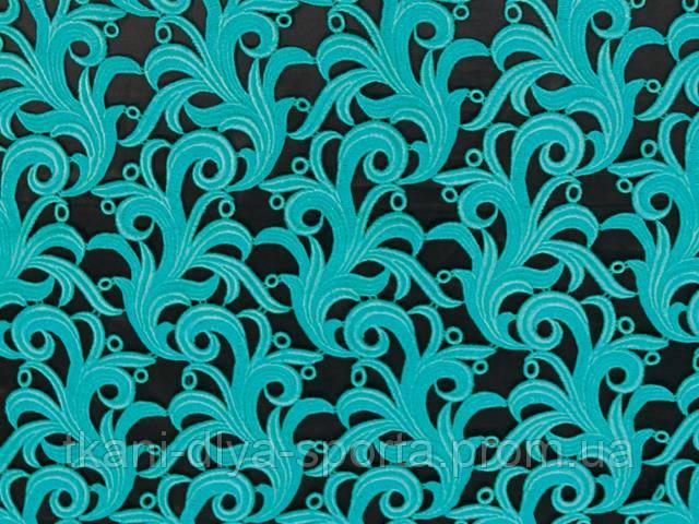 Кружевной мотив морская волна CHRISANNE (Англия) (Tamara lace blue zircon)