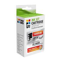 Картридж Canon PGI-1400XL, Black, MB2040/MB2340, 36 мл, ColorWay (CW-PGI-1400XLBK)