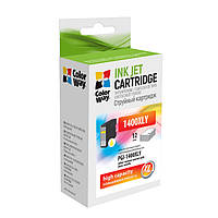 Картридж Canon PGI-1400XL, Yellow, MB2040/MB2340, 12 мл, ColorWay (CW-PGI-1400XLY)