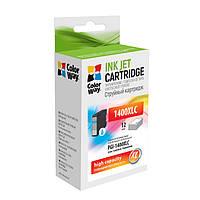 Картридж Canon PGI-1400XL, Cyan, MB2040/MB2340, 12 мл, ColorWay (CW-PGI-1400XLC)
