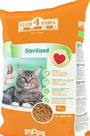 Клуб 4 Лапи Sterilized для стерилизованных кошек и котов 11кг