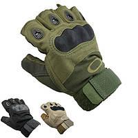 Тактические перчатки Oakley Военные с открытыми пальцами, спортивные