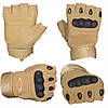 Тактические перчатки Oakley Военные с открытыми пальцами, спортивные, фото 3