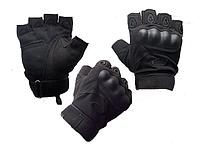 Тактические перчатки Oakley Военные с открытыми пальцами, спортивные Черный
