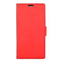 Чехол книжка TPU Wallet Stand для ZTE Blade V7 красный