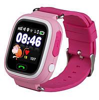 Детские умные часы Q90 Оригинал Розовые