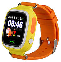 Детские умные часы Q90 Оригинал Оранжевые