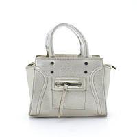 Стильная женская сумка-клатч серебряно-золотого цвета 335 gold ( новинка )